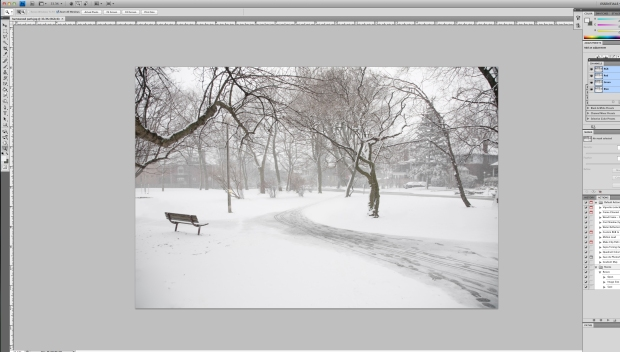photoshop, photoshop pane, landscape, winter, park bench, David Goorevitch, Awe and then some, aweandthensome, aweandthensomephotography, aweanthensome blog, art photography, Toronto, Toronto photographers, Toronto photography, Toronto for Photographers, Private Photography lessons, Private photography lessons Toronto, Toronto photography lessons